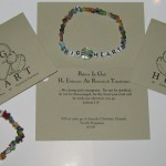 BIGHEART (Believe In God He Embraces All Restores, Transforms) Beaded Bracelt