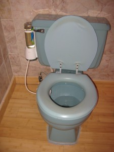 Automatic Toilet Bowl Cleaner in use