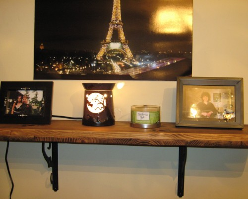 Scentsy warmer on my shelf