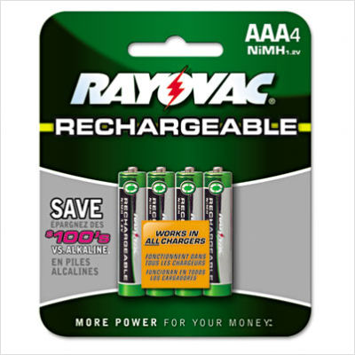Ray-O-Vac Rechargeable AAA Batteries