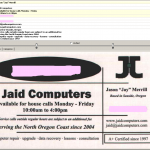 Jaid Computer Business Card