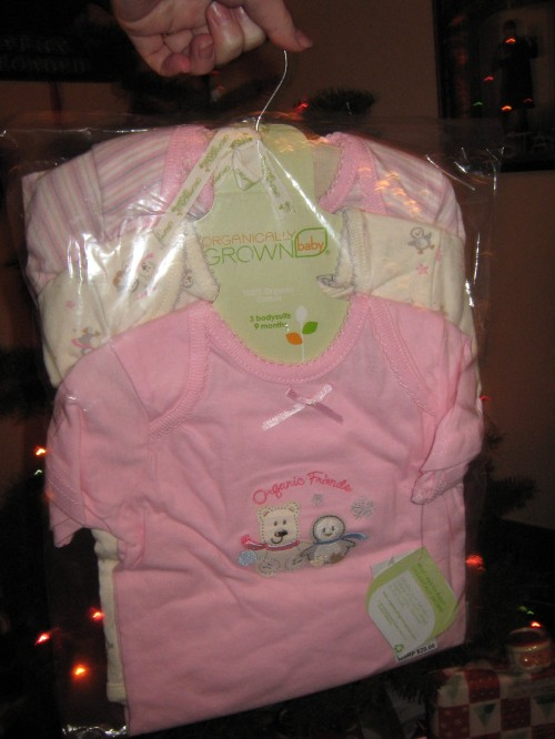 "Organic Cotton Girls ""Winter Friends"" 3 Piece Bodysuit Set"