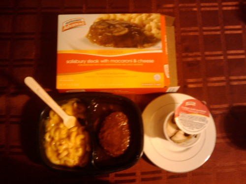 Salisbury Steak with Macaroni and Cheese