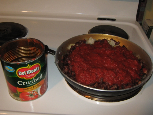 Step 3: Add a Can of Crushed Tomatoes!