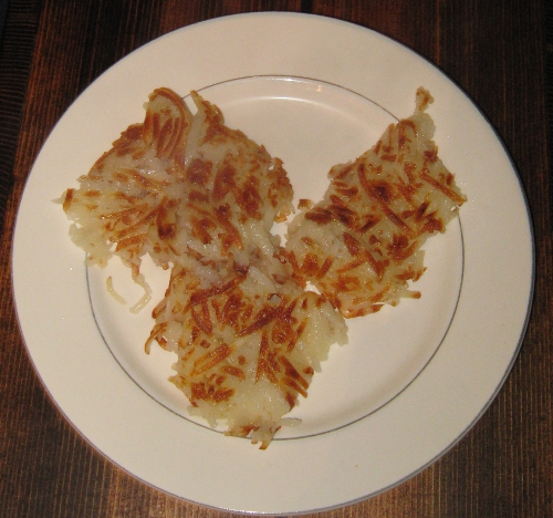 Plate of hash browns - yum!