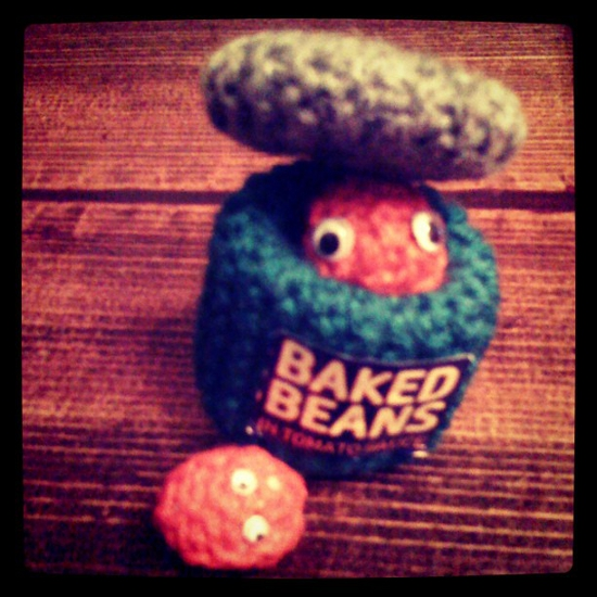 Knitted Baked Beans