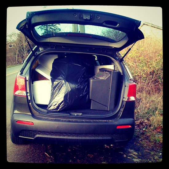 Trunk of the Kia Sorento
