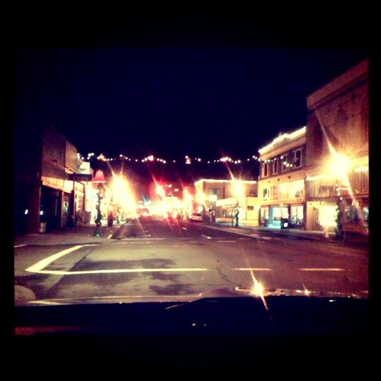 Lights in downtown Astoria