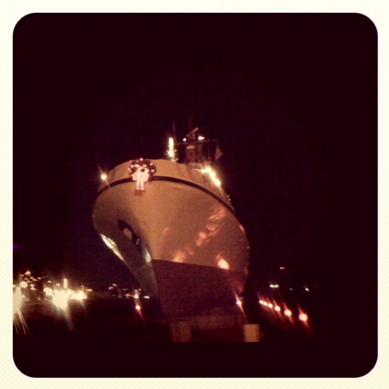 Lights on the bow
