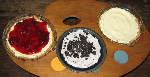 A selection of cheesecakes that I made for Jai's birthday party in 2010