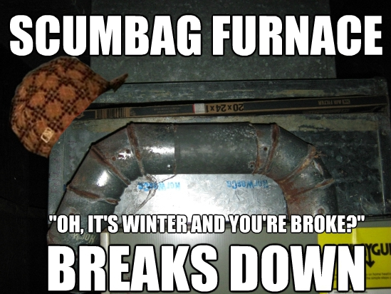 scumbag furnace diy on the fly fixing our furnace contest corner the best