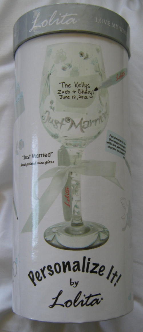 """Just Married"" Glass"