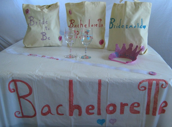 Tasteful, homemade bachelorette supplies!