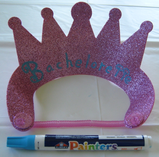 Making a bachelorette tiara!