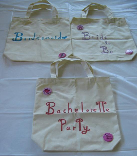 Bachelorette tote bags
