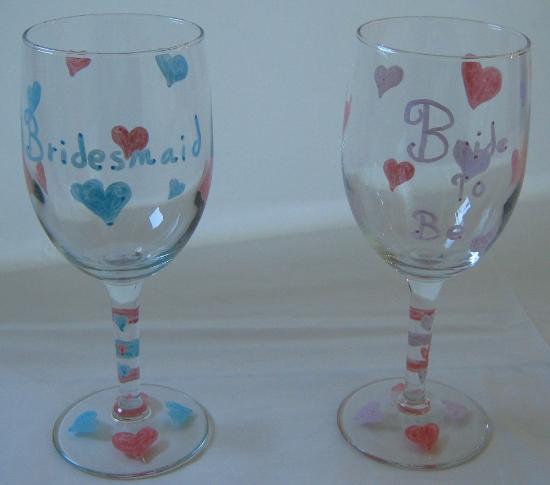 Bachelorette wine goblets