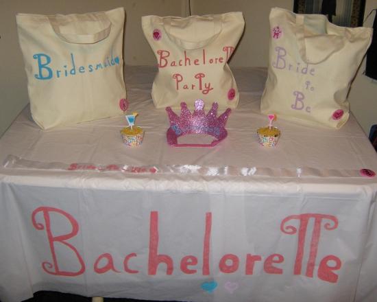 Anatomy of a fabulous bachelorette party contest corner for Bachelorette party decoration ideas diy