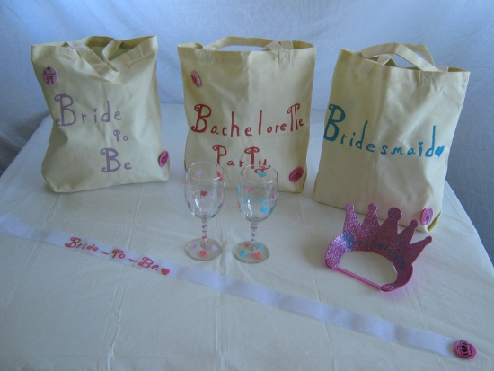 My DIY bachelorette party supplies!