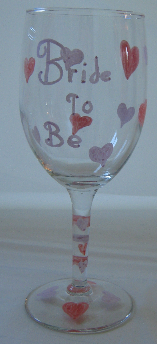 DIY Bride To Be wine glass