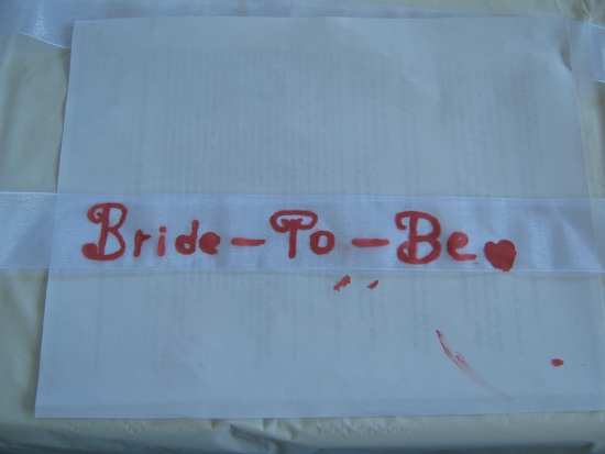 Making a Bride-To-Be Sash