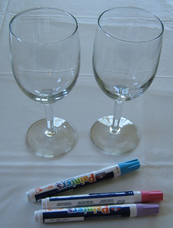 DIY bachelorette wine glasses