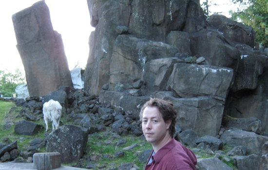 Jai with mountain goats