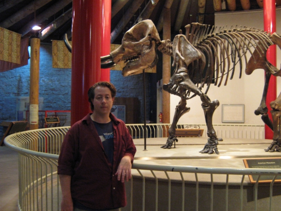 Jai with the Mastadon skeleton