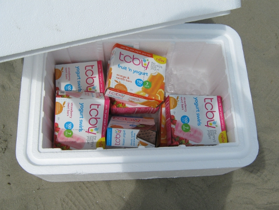 TCBY treats in the cooler!