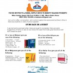 School Supply Drive Invitation