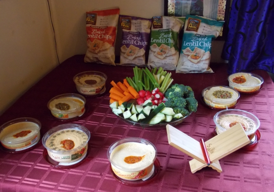 Hummus buffet spread
