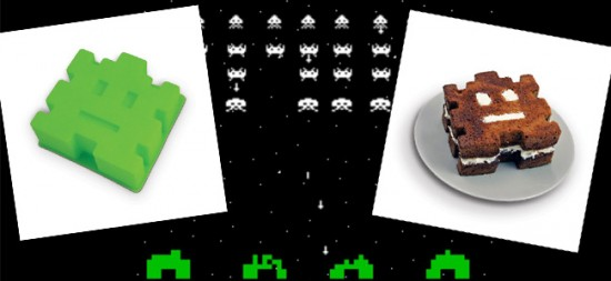 Space Invader Arcade Cake Mould
