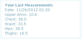 Beeb's Measurements - Month 6