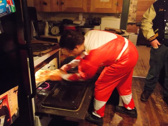 Red Ranger serves pizza!
