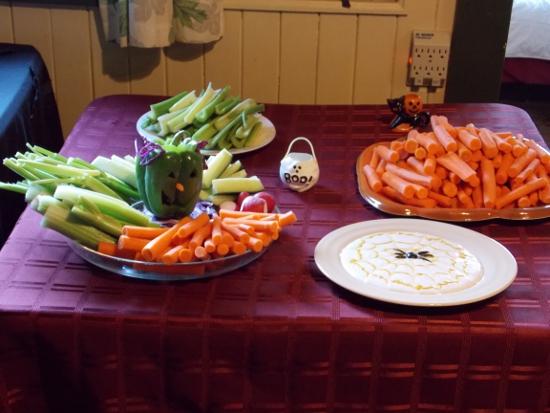 Green Goblin veggie platter!