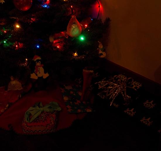 Daisy BB Gun tucked under the Christmas tree