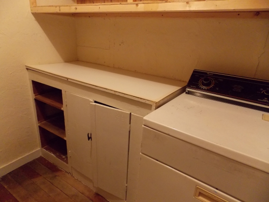 Dryer & cabinets - before