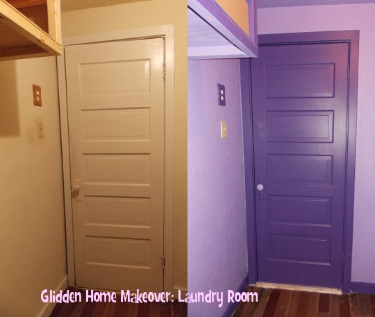 Glidden Home Makeover: Laundry Room
