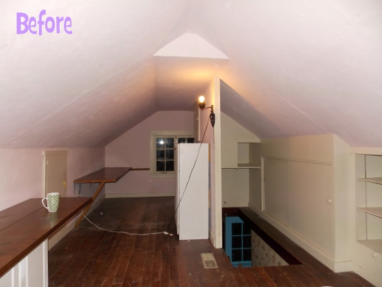 Our Converted Attic: Before