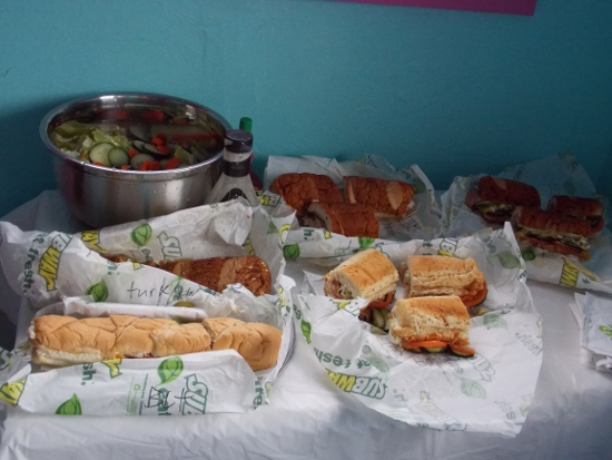 Five Dollar Footlong Party Spread!