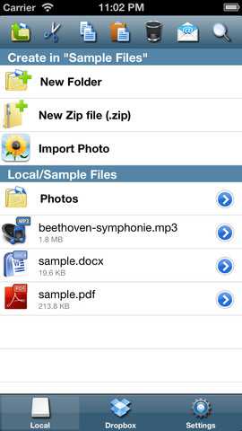 iFile Browser Screenshot