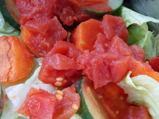 Salad using Dei Fratelli tomatoes