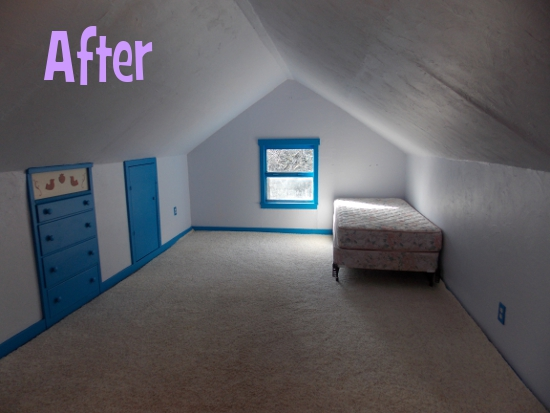 Converted attic - after