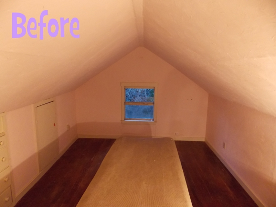 Converted attic - before