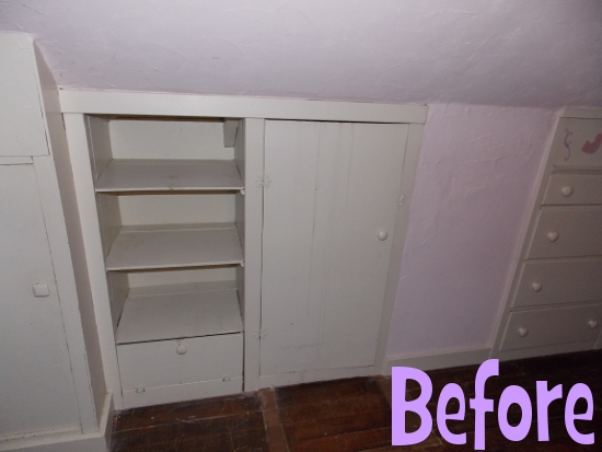 Shelving - before