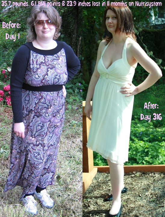 Beeb: Before and After Nutrisystem