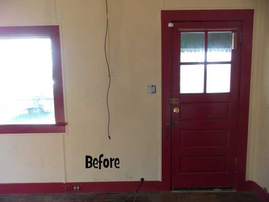 Front door - before