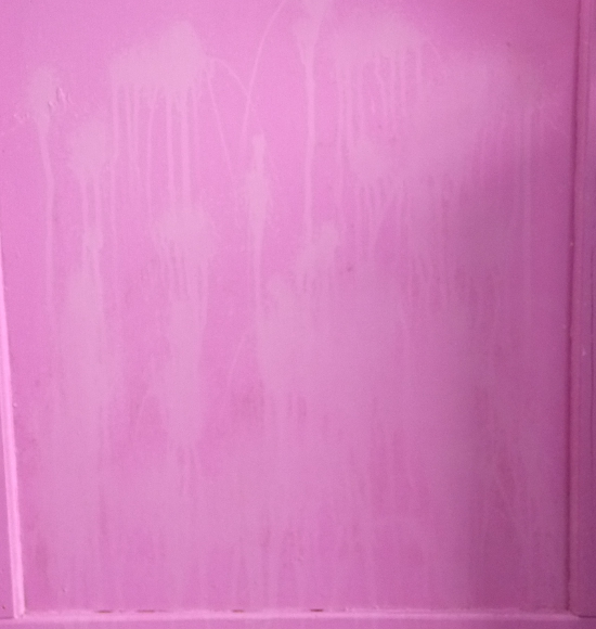 Door after using Soft Scrub Mold & Mildew Stain Remover