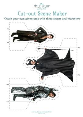 Maleficent cut-outs