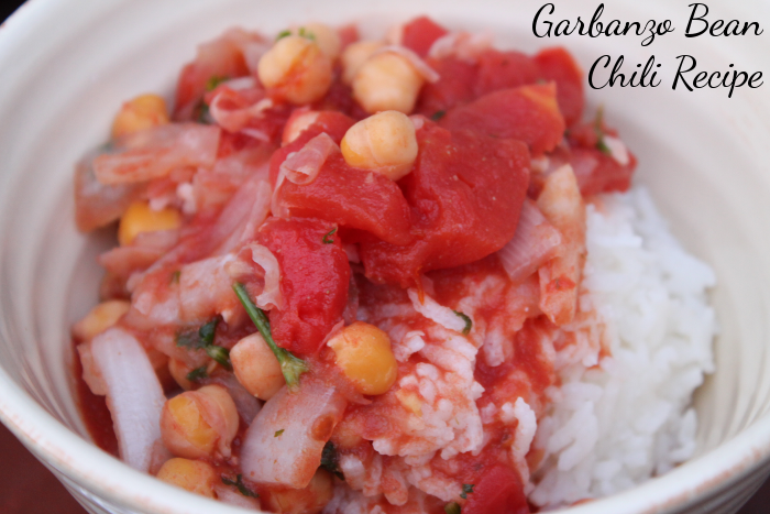 Garbanzo Bean Chili Recipe