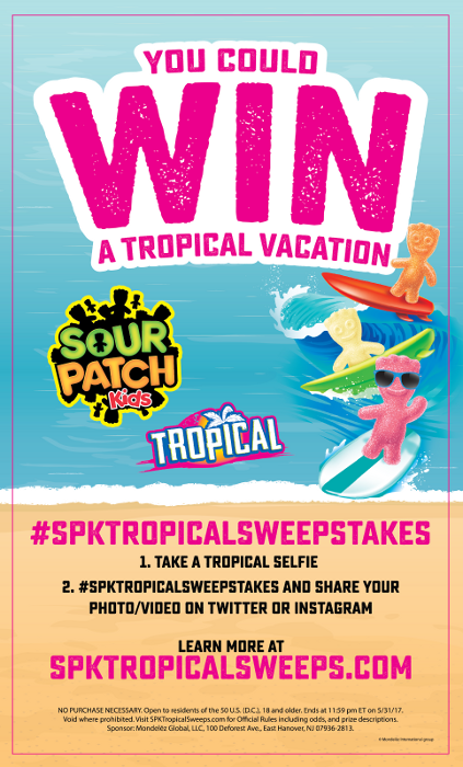 SOUR PATCH Kids Tropical Vacation Sweepstakes
